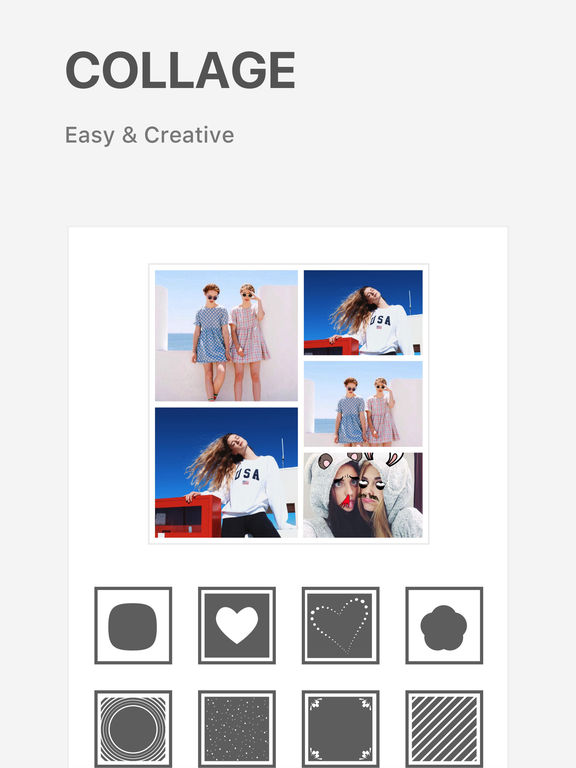 Mixoo photo editor collage layout maker on the app store for Store layout maker