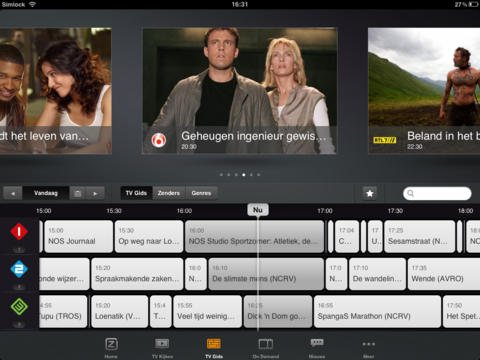 Ziggo TV iPad screenshot 2