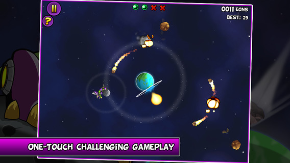 Mechanosaur Hijacks the Moon iPhone iPad