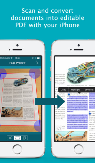 IRIScan to PDF: Papier in PDF (Scanner & Konverter) Screenshot