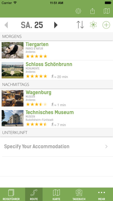 Wien Reiseführer (mit Offline Stadtplan) - mTrip Screenshots