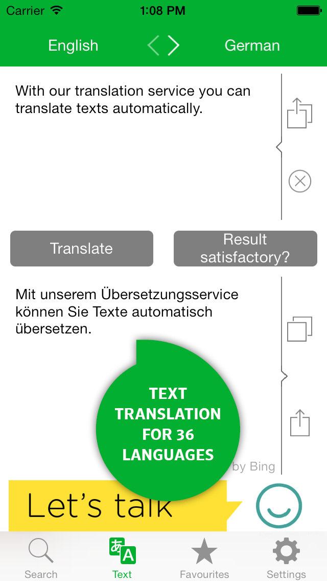 pons texte übersetzen