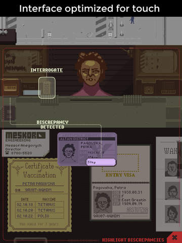 Papers, Please iPhone iPad