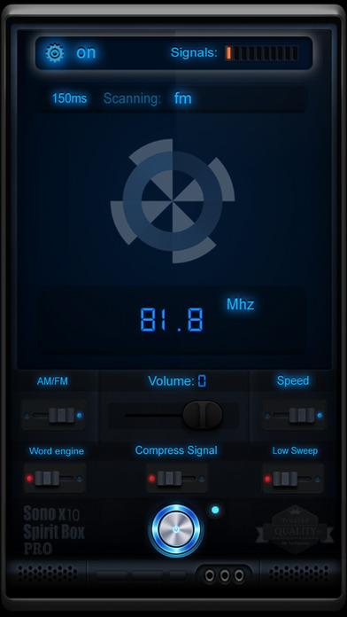 Screenshot for Sono X10 Spirit Box PRO in Denmark App Store