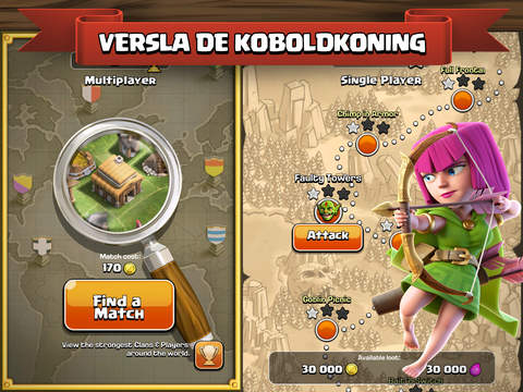 Clash of Clans iPad app afbeelding 2