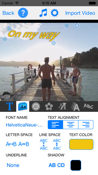 TextVideo - Text on Video Screenshot