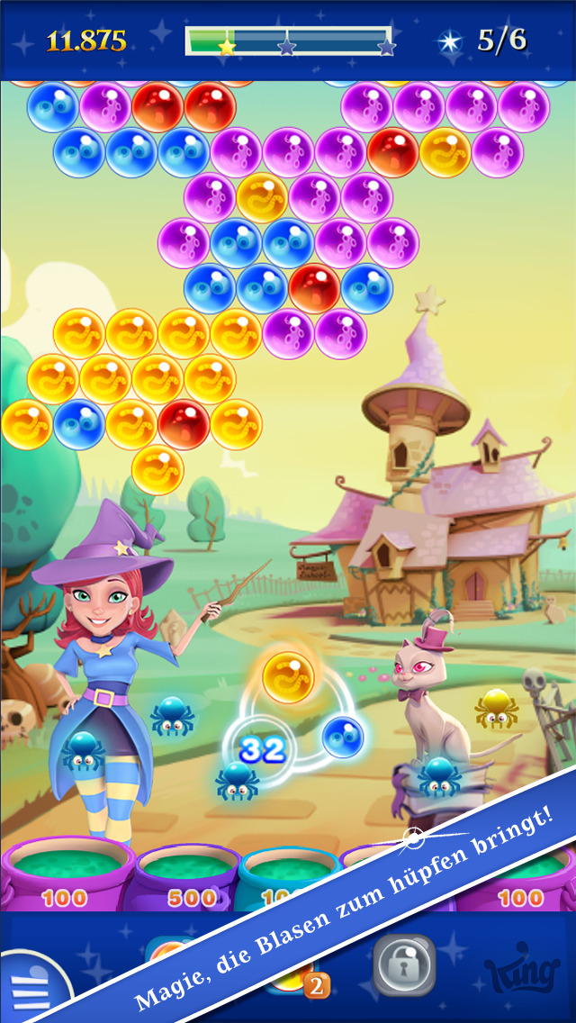 Bubble Witch 2 Saga iOS Screenshots