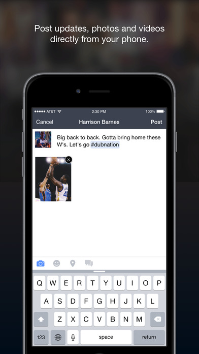 Facebook Mentions Screenshot