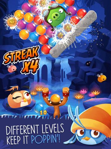 Angry Birds Stella POP - Střílení bublin oživené ptáky (Video)
