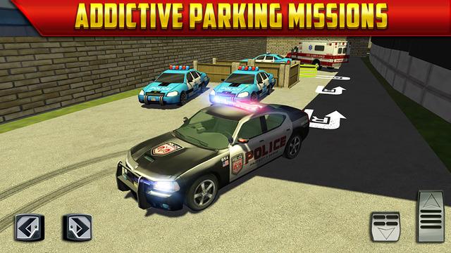 Police car parking simulator game gratuit jeux de voiture de course pour iphone ipod touch et - Jeux de poli gratuit ...