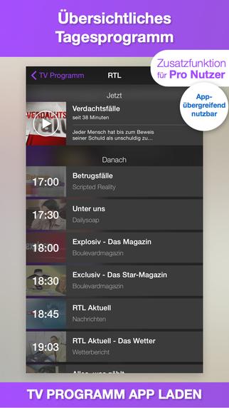 TV Programm App TV.de Fernsehprogramm und TV Zeitung mit Live TV und TV Tipps für heute Screenshot