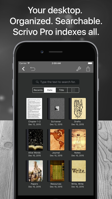 Scrivo Pro for Scriveners and Writers Screenshots