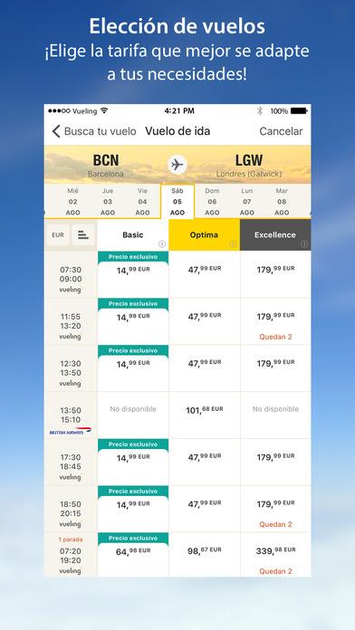 Vueling - Vuelos baratos Screenshot