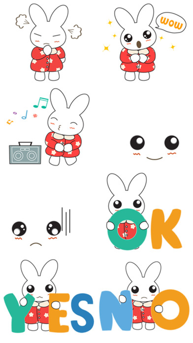 download Little Bunny Stickers! apps 0