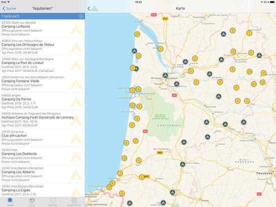 ADAC Camping- und Stellplatzführer 2017 Screenshots