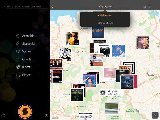 SoundHound ∞ Musikerkennung und Kostenloser Player Screenshot