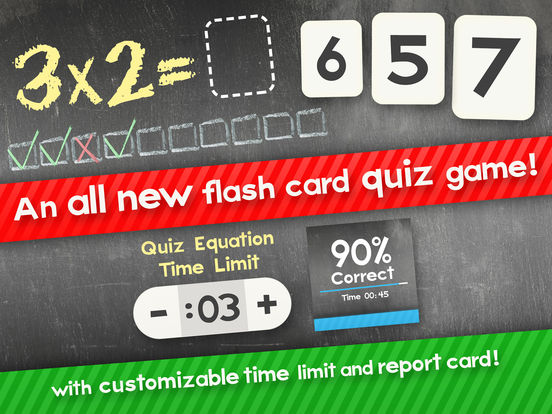 Multiplikation Flash Cards Spiele Fun Math Problem Screenshot