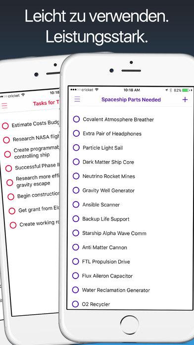 Schöne Listen - Aufgabenlisten + Checklisten Screenshot