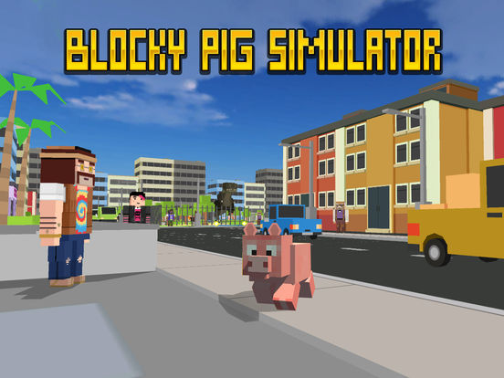 Blocky City Pig Simulator 3D Full Screenshots