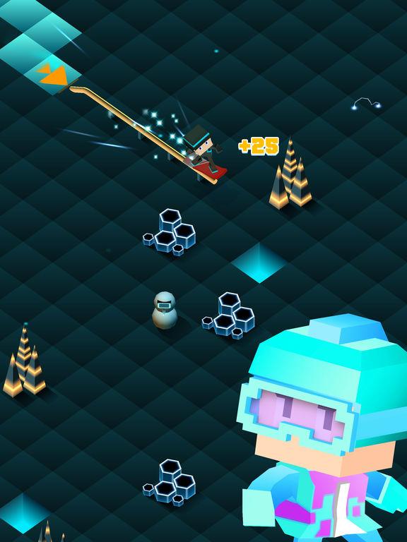 Blocky Snowboarding - Endless Runner Screenshot