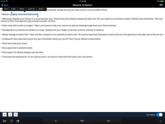 Meteor Notes Screenshot