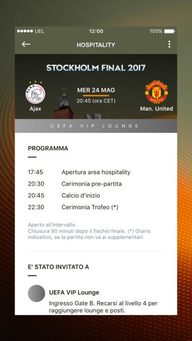 L'app ufficiale della UEFA Europa League Screenshot