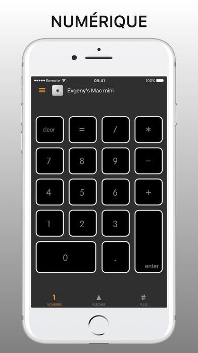 Screenshot Remote Keyboard Pad for Mac - NumPad & KeyPad