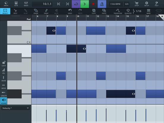 Cubasis LE 2 - Mobile Music Creation System Screenshot