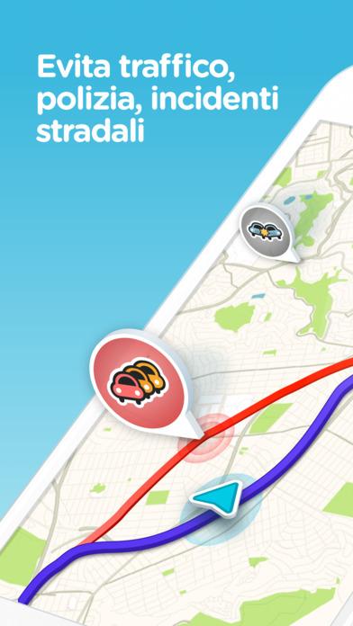 Waze: Navigazione GPS, Mappe, Autovelox & Traffico Screenshot
