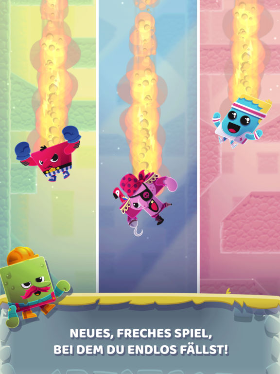 Canyon Crash - Freier Fall iOS Screenshots