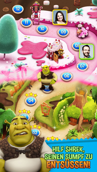 Shrek Sugar Fever iOS Screenshots