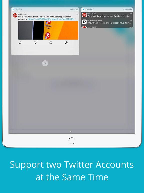 Tweety Pro - Show Twitter Timeline on Lock Screen Screenshot