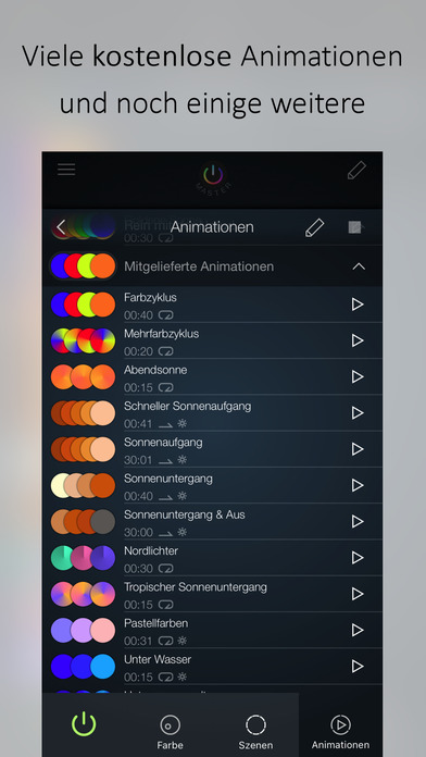 iConnectHue für Philips Hue lights Screenshot