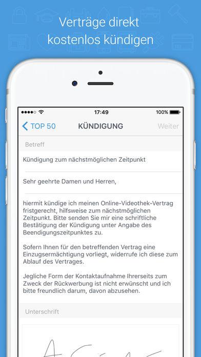 volders – Digitaler Vertragsassistent Screenshot