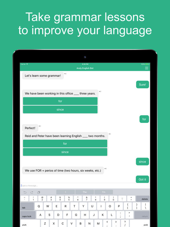 Andy - English Chat, Learn and Practice with Robot Screenshot