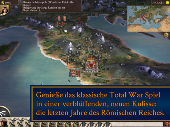 ROME: Total War - Barbarian Invasion iOS Screenshots