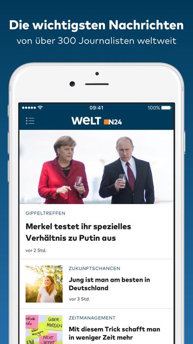 WELT News - Aktuelle Nachrichten Screenshot