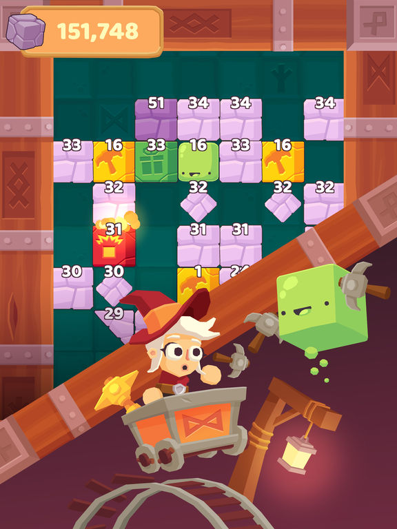 Charming Runes - Endless Arcade Block Breaker Screenshot