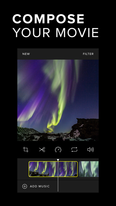 Carve Video Editor - Cinematic Filters Screenshot