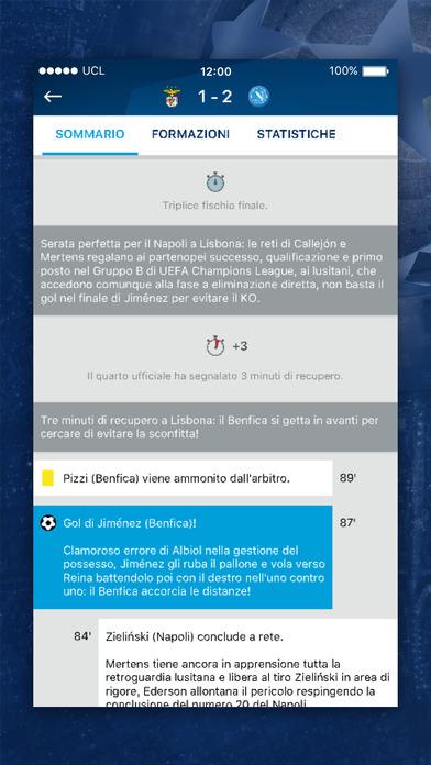 L'app ufficiale della UEFA Champions League Screenshot