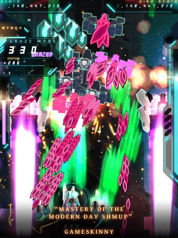 Danmaku Unlimited 3 - Bullet Hell Shooter iOS Screenshots