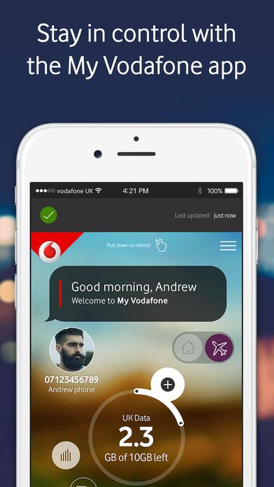 My Vodafone on the App...