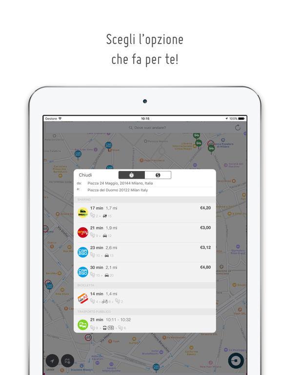 urbi - una sola app per i carsharing e la mobilità Screenshot