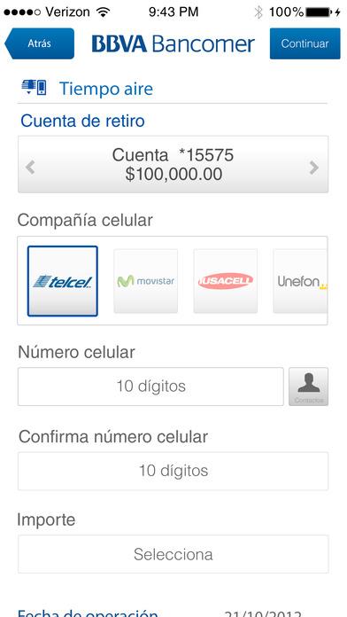Bancomer m vil en el app store for Banesco online consulta de saldo cuenta de ahorro