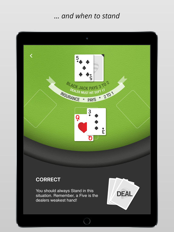 BlackJack Trainer PRO HD - Learn Basic Strategy for the game 21 Screenshots