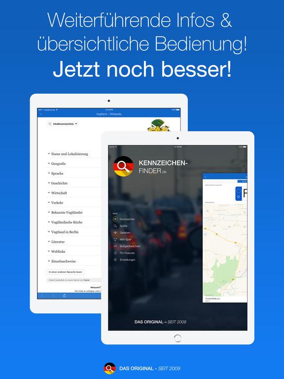 Kennzeichen-Finder Screenshot