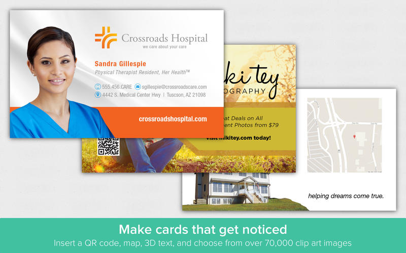 Business Card Designer - Create business cards Screenshots