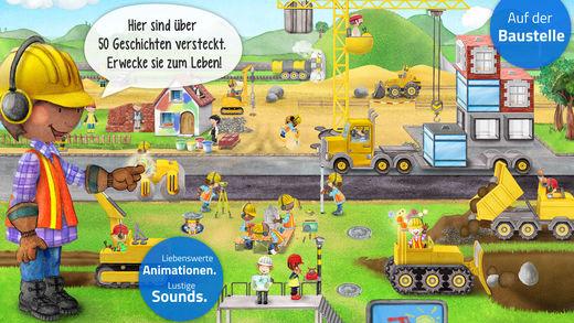 Meine Bauarbeiter: Bagger, Kran und Kipplaster App für Kinder! Screenshot