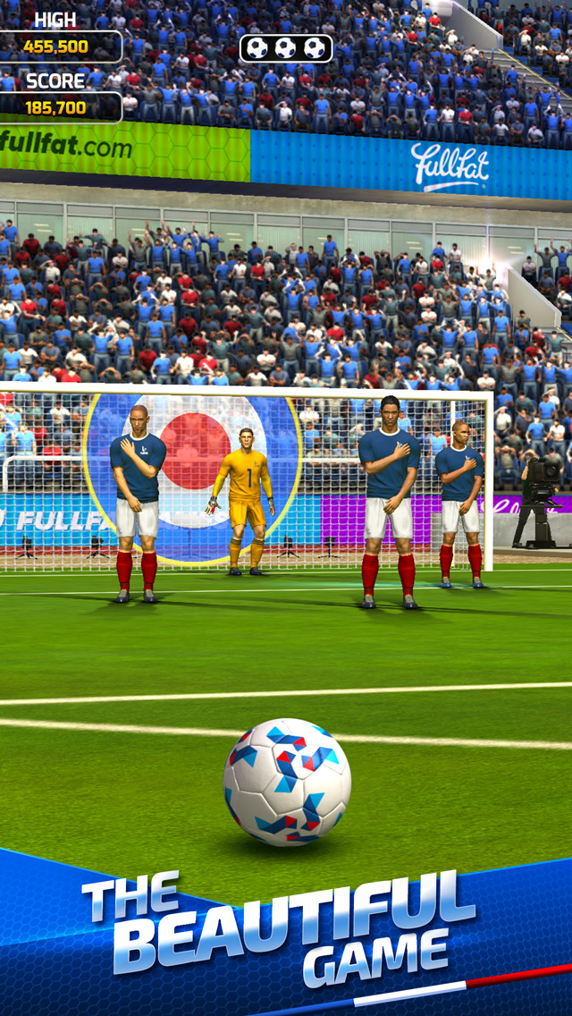 Flick Soccer France 2016 iOS Screenshots