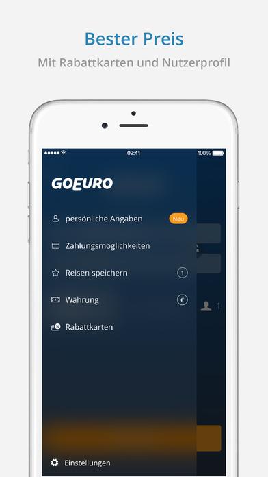 GoEuro – Bahn, Bus, Flug Screenshot